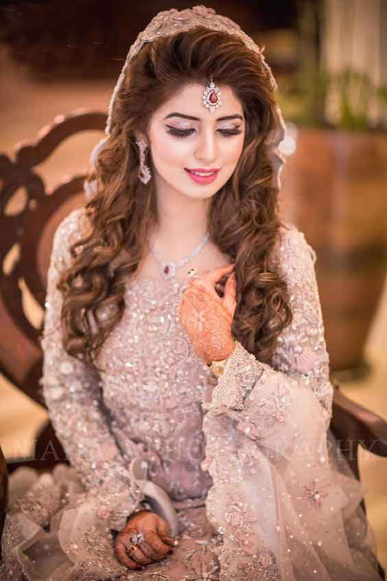 Bridal Engagement Makeup With Pink Dress Weddingpace