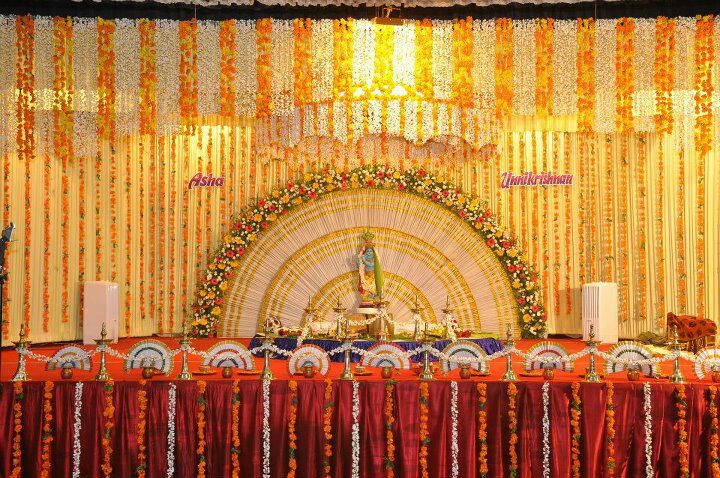 Stage Decoration Kottayam : Kerala hindu wedding stage decoration photos