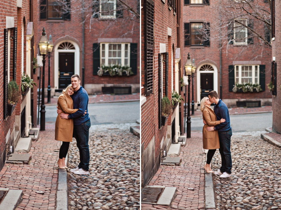Boston Engagement Session at Acorn Street | Massachusetts Wedding_0001