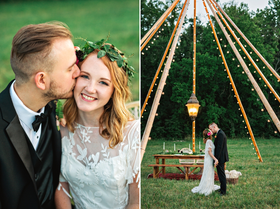 Outdoor Tipi Wedding Green Door Gourmet Amilia Photography