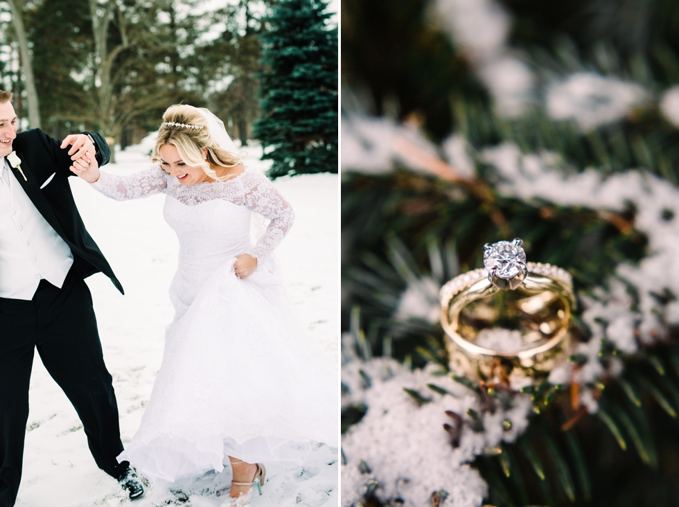 Cleveland Wedding Photographer Snowy Wedding