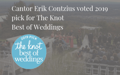 Cantor Erik Contzius wins The Knot's 2019 Best of Weddings recognition