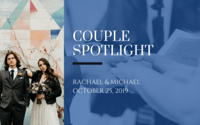 "Couple Spotlight: The ""theatrical, intimate, and edgy"" wedding of Rachael and Michael"
