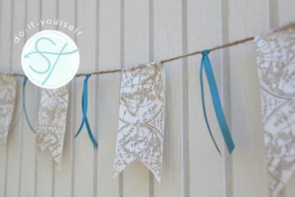 ribbon bunting banner via something turquoise
