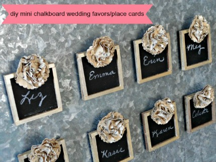 DIY Mini Chalkboard Wedding Favors