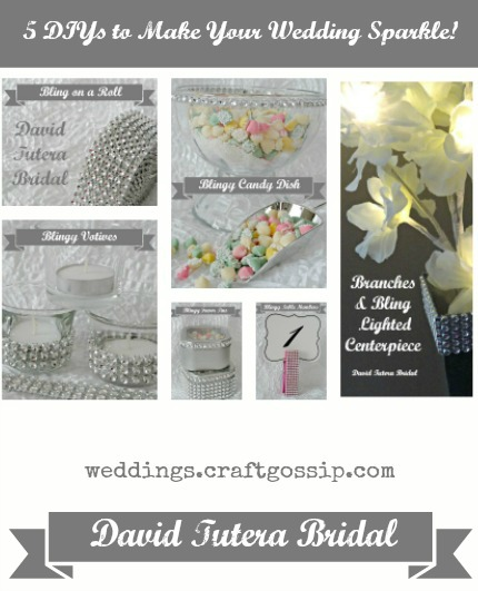 5 DIYs to Make Your Wedding Sparkle via weddings.craftgossip.com