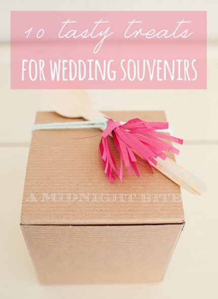 10 Sweet and Savory Wedding Souvenirs