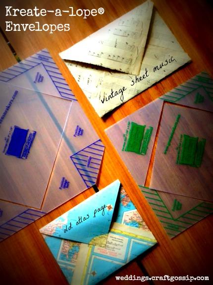 Kreate-a-lope® Envelopes via weddings.craftgossip.com