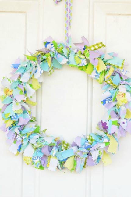 Shabby Chic Fabric Wreath Intimate Weddings
