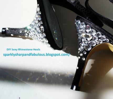 DIY Sexy Rhinestone Heels via The Sparkle Queen