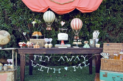 Hot Air Balloon Dessert Table via Amy Atlas