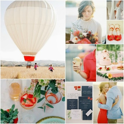 Hot Air Balloons Wedding Postcards & Pretties