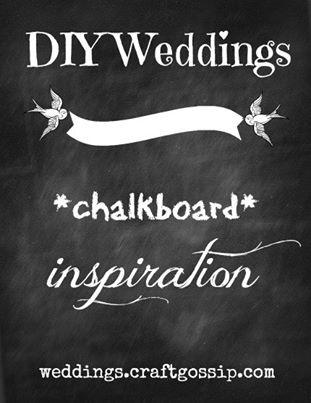 {Pinteresting Weddings} Chalkboard Inspiration