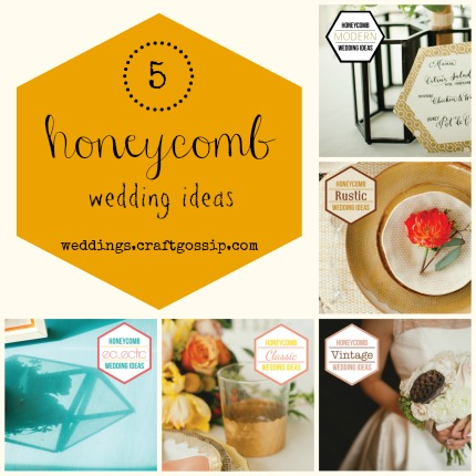 5 Honeycomb Wedding Ideas weddings.craftgossip.com