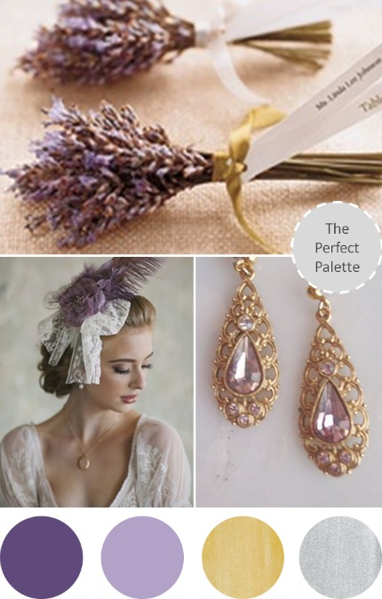 Lavender Gold and Silver Wedding via The Perfect Palette