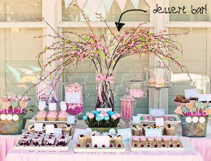 Mason Jar Dessert Bar via Wedding Party