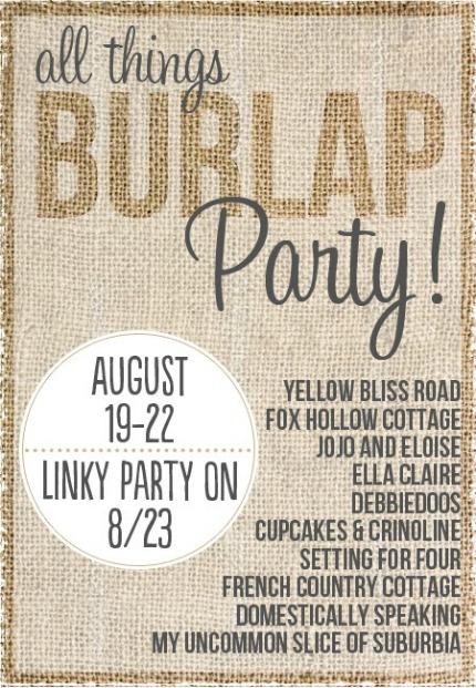 All Things Burlap Blog Hop via Yellow Bliss Road