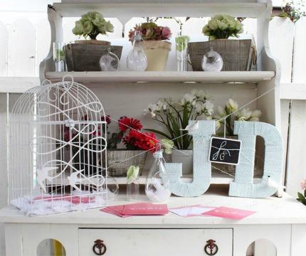 DIY Whimsical Wrapped Letters via Weddingstar Blog