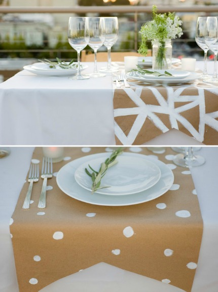 Geometric Paper Table Runner DIY via Oh Happy Day