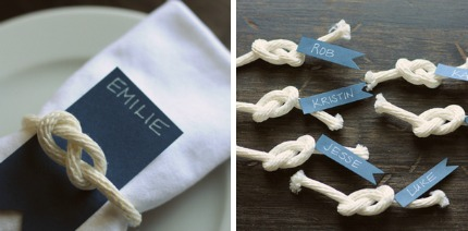 Nautical Wedding Details via Project Wedding