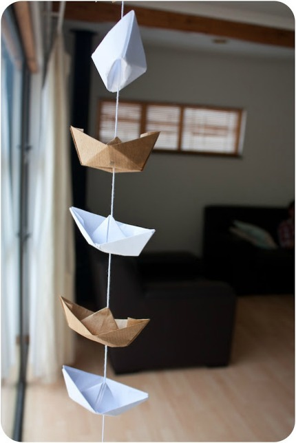 Sailboat Garland via Bee Inspired