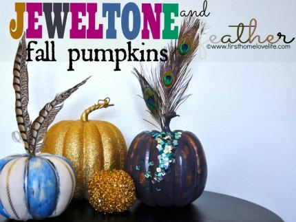 Jewel Tone Fall Pumpkins via First Home...Love Life