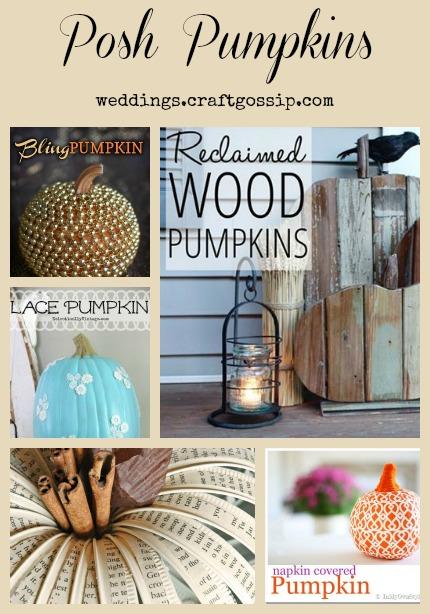 Posh Pumpkins weddings.craftgossip.com