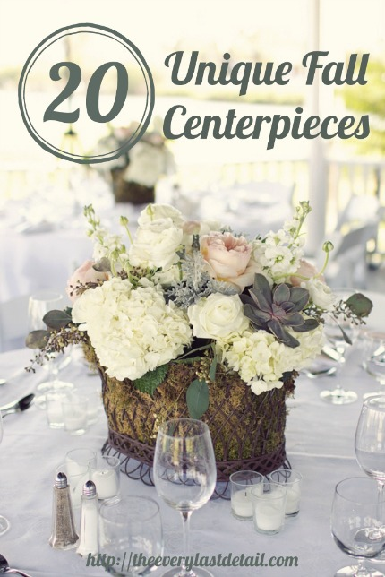 20 Unique Fall Centerpieces via Every Last Detail