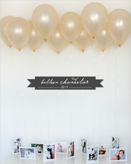 DIY Balloon Chandelier via Wedding Chicks
