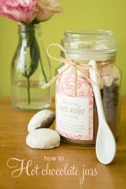 Hot Chocolate Jars via Polka Dot Bride