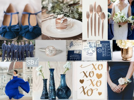 Copper and Cobalt Wedding Inspiration via Southbound Bride