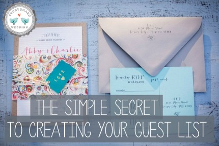 Simple Secret to Creating Your Guest List via Storyboard Wedding
