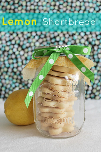 Lemon Shortbread Cookie Favors via Intimate Weddings