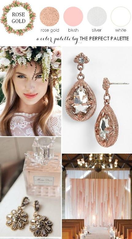 Rose Gold and Blush Wedding via The Perfect Palette