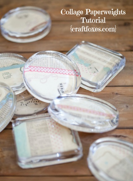 Collage Paperweights Wedding Favors Tutorial via Craft Foxes