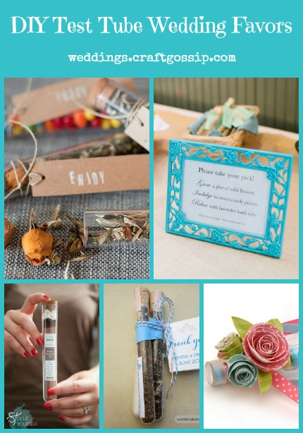 DIY Test Tube Wedding Favors via weddings.craftgossip.com