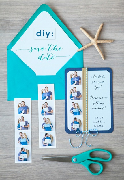 DIY Photo Strip Save the Dates via Something Turquoise