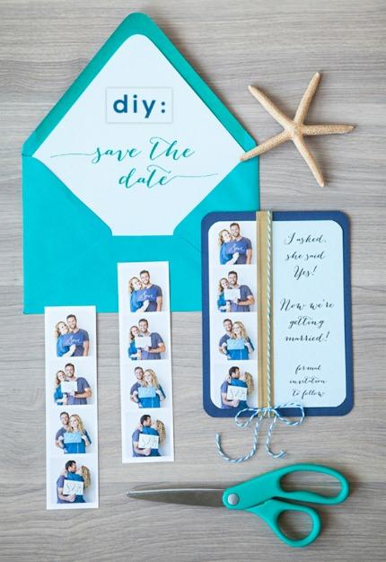 DIY Photo Strip Save the Dates via Something Turquoise