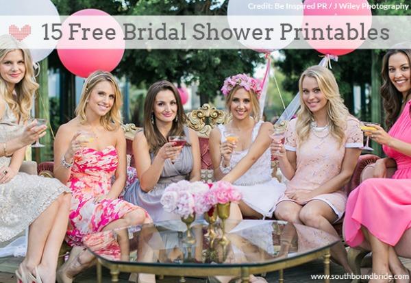 15 Free Bridal Shower Printables via Southbound Bride