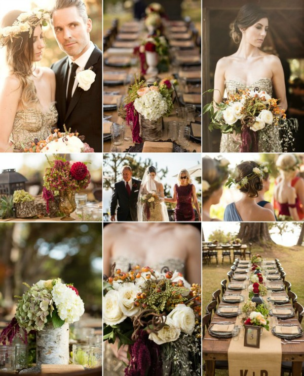Wine Burlap Olive & Cream Wedding Inspiration via onewed.com