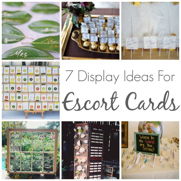 7 Dipslay Ideas For Escort Cards