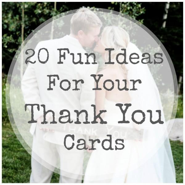 Fun Thank You Card Ideas DIY Weddings