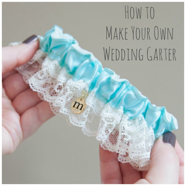 Make your own wedding garter in under an hour diy weddings for Garter under wedding dress