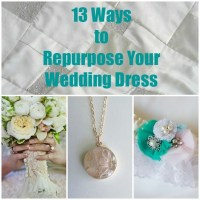 13 Ways to Recycle your wedding dress