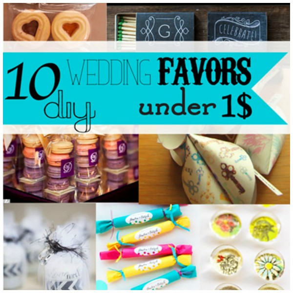 Diy Wedding Thank You Gift Ideas : DIY Wedding Favors for Under USD1 DIY Weddings