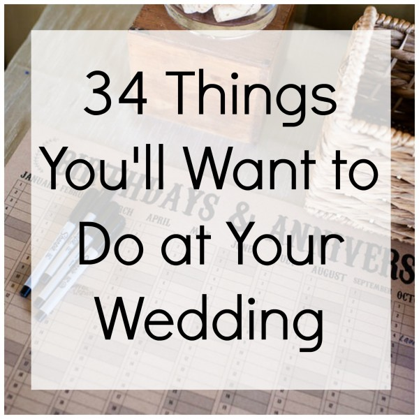 weddings things to do