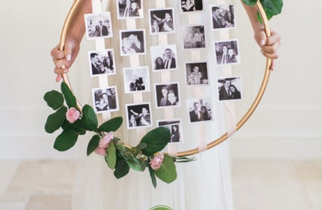 DIY Wedding Photo Hoop