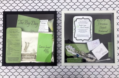 DIY Wedding Keepsake Shadow Box