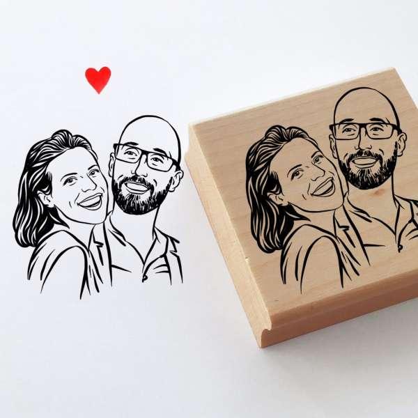 Personalized portrait stamp – DIY Weddings