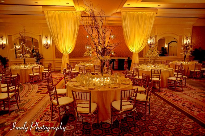 Wedding Flowers with Crystals and Candelabras at Ritz Carlton Sarasota